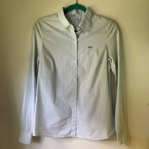 Lacoste blue striped buttoned blouse
